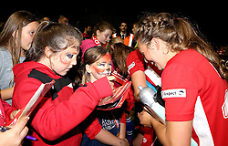 Paige Sawyer of Bristol City Women signs autographs - Mandatory by-line: Robbie Stephenson/JMP - 10/09/2016 - FOOTBALL - Stoke Gifford Stadium - Bristol, England - Bristol City Women v Watford Ladies - FA Women's Super League 2