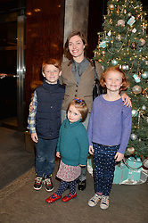 CAMILLA RUTHERFORD and her children HECTOR, MAUD and NANCY at a VIP evening hosted by Joely Richardson at the Tiffany & Co Christmas Shop, Tiffany & Co Old Bond Street, London on 24th November 2013.