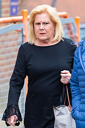 American Airlines cabin crew member Cinthia Struble, 64, of Dallas, Texas, arrives at Uxbridge Magistrates Court near London where she faces allegations of arriving over the legal alcohol limit for airline crew at Heathrow Airport on December 28th 2018.. Uxbridge, Middlesex, March 19 2019.