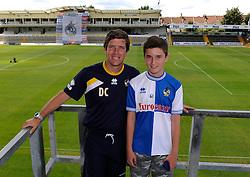 Bristol Rovers Manager, Darrell Clarke has his photo taken with a fan - Photo mandatory by-line: Dougie Allward/JMP - Mobile: 07966 386802 27/07/2014 - SPORT - FOOTBALL - Bristol - Bristol Rovers - - Memorial Stadium - Fun Day