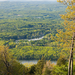View from Mount Wachusett in Mount Wachusett State Park.  Massachusetts.