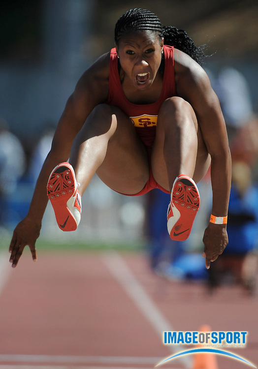 May 3, 2008; Los Angeles, CA, USA: Michelle Sanford of Southern California won the women's triple jump at 43-1 1/2 (13.14m) in dual meet against UCLA at Drake Stadium.