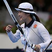 Roma 03/09/2017 Stadio dei Marmi<br /> Hyundai Archery World Cup - Finale<br /> Finale Ricurvo Donne<br /> la vincitrice la coreana Ki Bo-bae