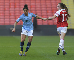 February 23, 2019 - Sheffield, England, United Kingdom - Demi Stokes pays full attention to the ball during the  FA Women's Continental League Cup Final  between Arsenal and Manchester City Women at the Bramall Lane Football Ground, Sheffield United FC Sheffield, Saturday 23rd February. (Credit Image: © Action Foto Sport/NurPhoto via ZUMA Press)