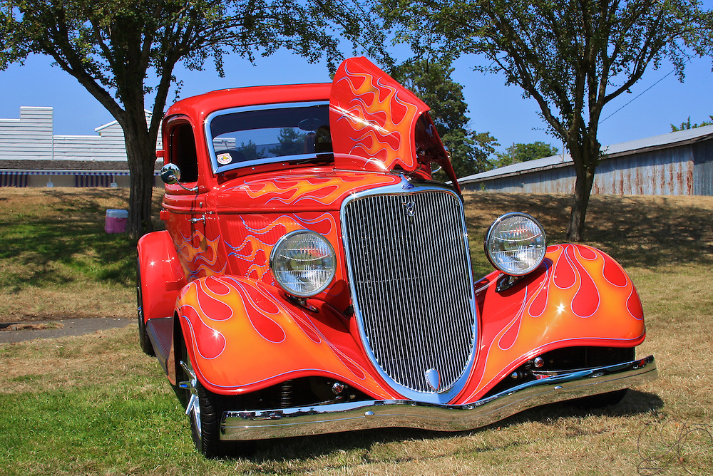 """Made famous by ZZ Top - a '33 Ford """"eliminator"""" coupe, a classic American hot rod"""