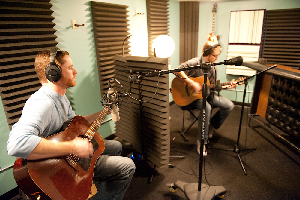 The Warbuckles record a song for the STL LOUD EP at R&R Music Labs, November 14, 2010