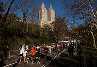 Despite the New York City Marathon being cancelled due to Hurricane Sandy, thousands of runners still came out to run in Central Park.<br /> Photo by Robert Caplin