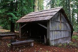 Camping Shelter, Mt. St. Helens National Volcanic Monument, Washington, US