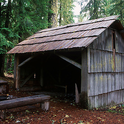 Camping Shelter, Mt. St. Helens National Volcanic Monument, Washington, US