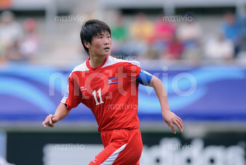 Fussball Frauen FIFA U 20  Weltmeisterschaft 2008     23.11.2008 Korea DVR - Norwegen Torschuetzin Un Sim Ra (PRK)