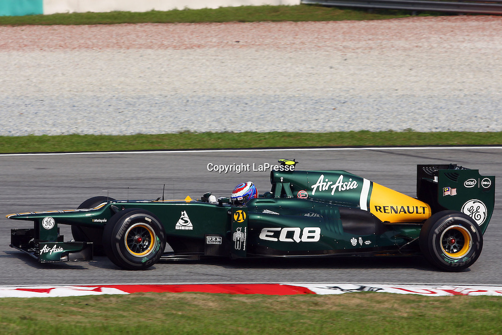 &copy; Photo4 / LaPresse<br /> 23/3/2012 Sepang<br /> Malaysian Grand Prix, Sepang 2012<br /> In the pic: Vitaly Petrov (RUS), Caterham F1 Team CT01
