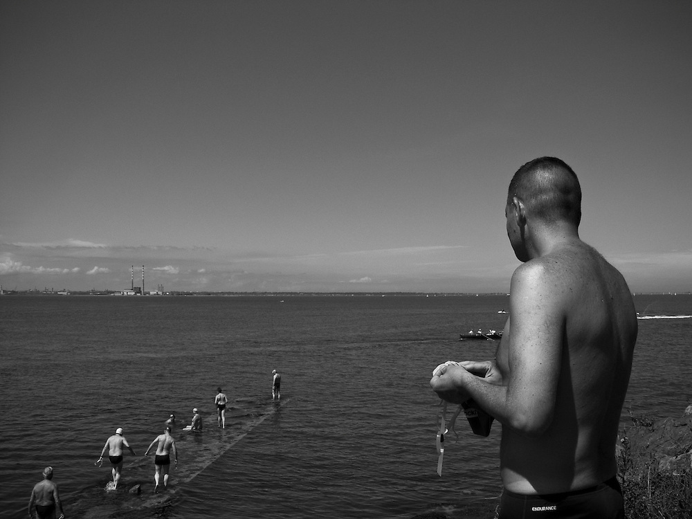 Open water swim, Monkstown, Co. Dublin, Ireland, July 2005.