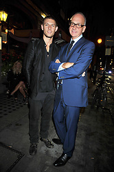 Left to right, actor ALEX PETTYFER and RICHARD JAMES at the opening of his pop up shop at 35 South Audley Street, London W1 on 19th September 2009.