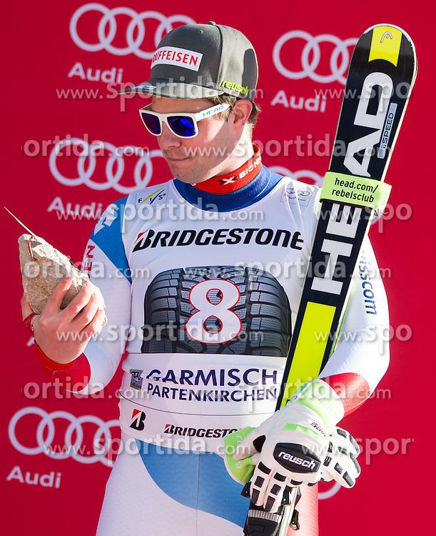 30.01.2016, Kandahar, Garmisch Partenkirchen, GER, FIS Weltcup Ski Alpin, SuperG, Damen, Siegerpräsentation, im Bild Beat Feuz (SUI, 3. Platz) // 3rd placed Beat Feuz of Switzerland on podium during the winner presentation for the men's Downhill of Garmisch FIS Ski Alpine World Cup at the Kandahar course in Garmisch Partenkirchen, Germany on 2016/01/30. EXPA Pictures © 2016, PhotoCredit: EXPA/ Johann Groder