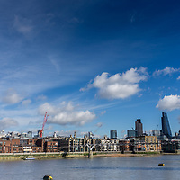 View of the city of London from the Southbank in England