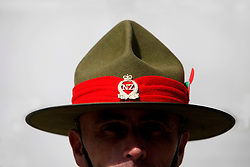 © Licensed to London News Pictures 24/04/2013.A New Zealand Sergeant attends ANZAC Day for wreath laying at the Cenotaph in central London..London, UK.Photo credit: Anna Branthwaite/LNP