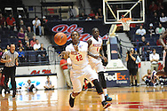 """Ole Miss Rebels guard Stefan Moody (42) vs. TCU at the C.M. """"Tad"""" Smith Coliseum in Oxford, Miss. on Thursday, December 4, 2014. TCU won 66-54."""