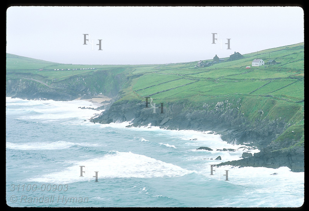 View toward Dunmore Head, mainland Irelnd's most westerly point, from Slea Head; Dingle Peninsula Ireland