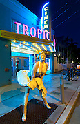 Tropic Cinema with statue of Marilyn Monroe in Key West, FL.