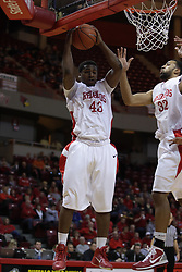 04 December 2010: Austin Hill pulls a rebound off the defensive glass during an NCAA basketball game between the Montana State Bobcats and the Illinois State Redbirds at Redbird Arena in Normal Illinois.