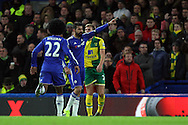 Diego Costa of Chelsea celebrates scoring what turns out to be the winning goal during the Barclays Premier League match at Stamford Bridge, London<br /> Picture by Paul Chesterton/Focus Images Ltd +44 7904 640267<br /> 21/11/2015