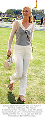 Actress JOELY RICHARDSON at a polo match in Berkshire on 28th July 2002.PCL 321