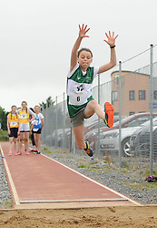 High Flyer&hellip; Ava Flynn from Castlebar Community games competing in the Girls U14 Long Jump at the Mayo Community Games.<br /> Pic Conor McKeown