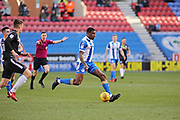 Donervan Daniels from Wigan between Wigan Athletic and Rochdale at the DW Stadium, Wigan, England on 24 February 2018. Picture by Myriam Cawston.