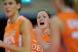 30-10-2011 VOLLEYBAL: NEDERLAND - BELGIE: ZWOLLE <br /> Nederland wint de tweede oefenwedstrijd met 3-2 van Belgie / Lonneke Sloetjes <br /> ©2011-WWW.FOTOHOOGENDOORN.NL
