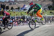 35 & Over Men #378 (O'NEILL Joseph) IRL at the 2018 UCI BMX World Championships in Baku, Azerbaijan.