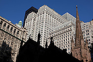 New York. trinity church lower Manhattan  new york  Usa / eglise de la trinite , on broadway, lower manhattan. new york Usa