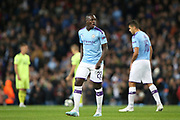 Manchester City defender Benjamin Mendy (22) during the Champions League match between Manchester City and Dinamo Zagreb at the Etihad Stadium, Manchester, England on 1 October 2019.