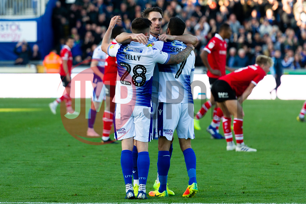 Alex Rodman of Bristol Rovers celebrates scoring his sides second goal of the game - Mandatory by-line: Ryan Hiscott/JMP - 04/05/2019 - FOOTBALL - Memorial Stadium - Bristol, England - Bristol Rovers v Barnsley - Sky Bet League One