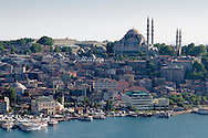 View o Suleymaniye Mosque and Golden Horn