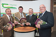 Michael McHugh,co- author,  Shane McEntee TD, Minister of State at the Department of Agriculture Food and the Marine, Prof Gerry Boyle, Teagasc Director  and Michael Diskin co author launch of a Teagasc publication - Technology updates on Sheep production. Photo:Andrew Downes