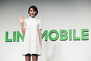 The Japanese actress Rena Nounen called NON speaks during a press conference on March 14, 2017, Tokyo, Japan. Line announced that it would launch an expansion of service for the application line music. 14/03/2017-Tokyo, JAPAN