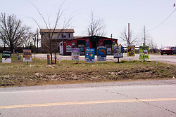 Low Cigarette Prices at a Closed Store, Along Old US Route 66 in Oklahoma