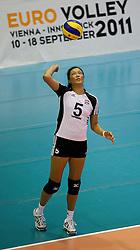 02.09.2011, ASKÖ-Halle, Graz, AUT, Volleyball Olympia-Qualifikation, AUT vs POR, im Bild Li Hua Ma (AUT), EXPA Pictures © 2011, PhotoCredit: EXPA/ Erwin Scheriau