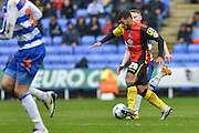 Birmingham City midfielder (26) David Davis during the Sky Bet Championship match between Reading and Birmingham City at the Madejski Stadium, Reading, England on 9 April 2016. Photo by Mark Davies.