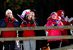 Slovenian fans during the Men 20 km Individual of the e.on IBU Biathlon World Cup on Thursday, December 16, 2010 in Pokljuka, Slovenia. The fourth e.on IBU World Cup stage is taking place in Rudno Polje - Pokljuka, Slovenia until Sunday December 19, 2010.  (Photo By Vid Ponikvar / Sportida.com)