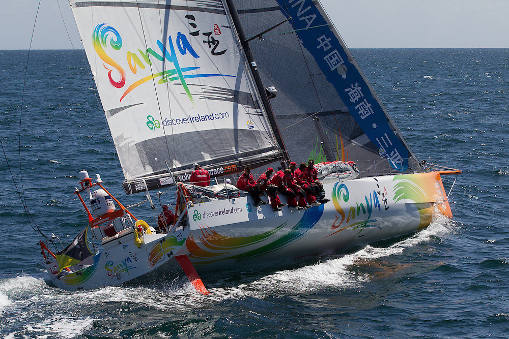 FRANCE, Belle Ile. 1st July 2012. Volvo Ocean Race, Leg 9 Lorient-Galway.Team Sanya.