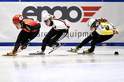 February 9, 2019 - Torino, Italia - Foto LaPresse/Nicolò Campo .9/02/2019 Torino (Italia) .Sport.ISU World Cup Short Track Torino - Ladies 1500 meters Final A .Nella foto: Jinyu Li, Anna Seidel, Hanne Desmet..Photo LaPresse/Nicolò Campo .February 9, 2019 Turin (Italy) .Sport.ISU World Cup Short Track Turin - Ladies 1500 meters Final A.In the picture: Jinyu Li, Anna Seidel, Hanne Desmet (Credit Image: © Nicolò Campo/Lapresse via ZUMA Press)