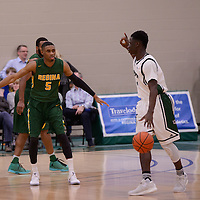 4th year guard Brandon Tull (5) of the Regina Cougars in action during the home game on December  3 at Centre for Kinesiology, Health and Sport. Credit: Matt Johnson/Arthur Images