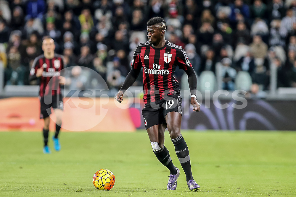 Mbaye Niang of AC Milan in action during the Serie A TIM match between Juventus and AC Milan at the Juventus Stadium, Turin, Italy on 21 November 2015. Photo by sync studio.