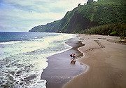 Horseback riding, Waipio Valley, Island of Hawaii