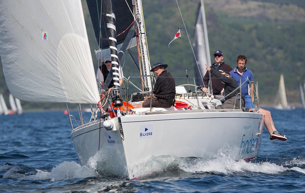 Silvers Marine Scottish Series 2017<br /> Tarbert Loch Fyne - Sailing<br /> <br /> GBR9604R, Nunatak, Chris Frost, RORC, J120