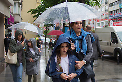 May 2, 2019 - Istanbul, Turkey - People walk the streets during the rain in the streets of Istanbul, Turkey May 2, 2019  (Credit Image: © Fayed El-Geziry/NurPhoto via ZUMA Press)