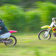 Dirt bike racing at Orange Walk Fiestarama, Belize
