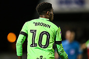 Forest Green Rovers Reece Brown(10) during the EFL Sky Bet League 2 match between Forest Green Rovers and Grimsby Town FC at the New Lawn, Forest Green, United Kingdom on 22 January 2019.