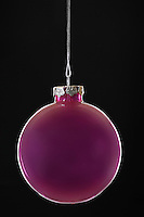 Purple Christmas bauble close-up